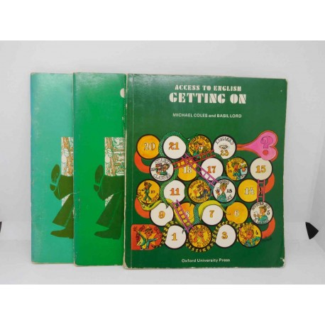 Libro Getting On and Workbook A y B, Michael Coles, Oxford University Press, 1980. Ref 3.