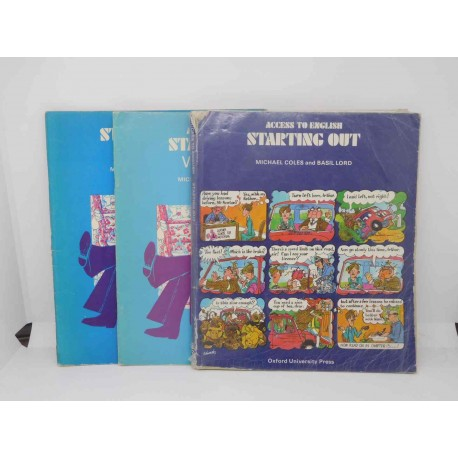 Libro Starting Out and Workbook A y B, Michael Coles, Oxford University Press, 1984. Ref 4.