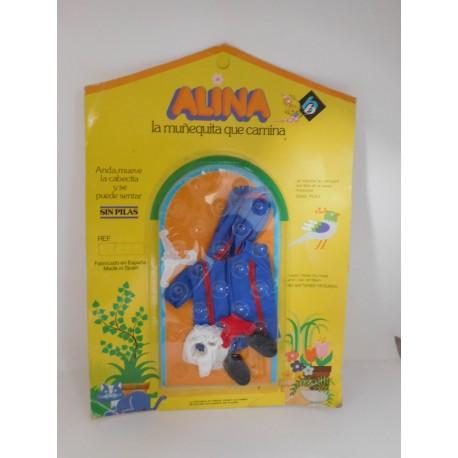 Blister de Alina la muñeca que camina de BB. Nuevo ref 738. Años 80.