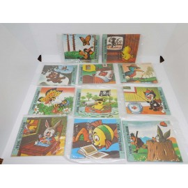 Lote de once minipuzzles Boga año 1969. Articulo típico de quiosco. nuevos.