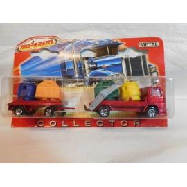 Camión Majorette Coleccion Collector Camión Container con remolque.  Blister. Nuevo