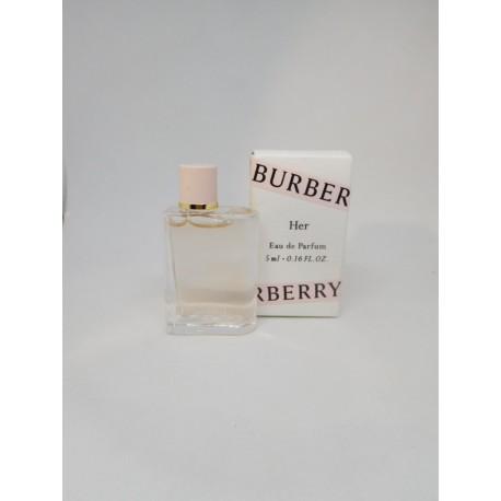 Miniatura Burberry Her. EDP 5 ml en caja.