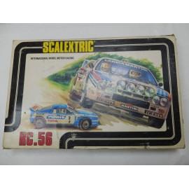 Caja Scalextric de Exin. Circuito RC - 56. Completo.