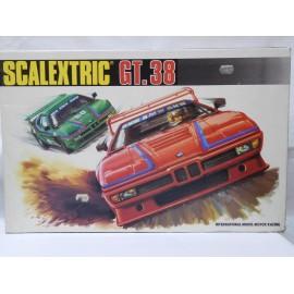 Caja de Scalextric Exin años 80 GT 38. Completa.