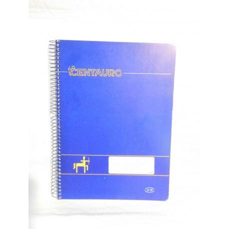 Cuaderno Centauro una raya. Espiral. Años 70-80.