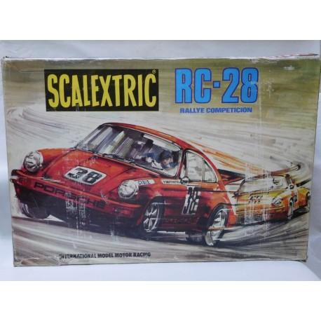 Caja de Scalextric RC28 Exin. Completo.