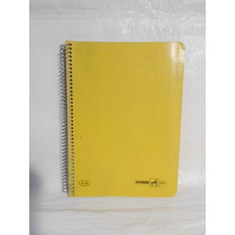 Cuaderno Centauro color una raya.  Espiral. Años 70-80.