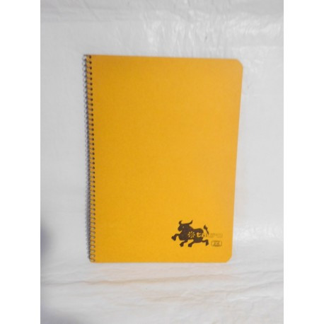 Cuaderno Tauro color naranja una raya. Espiral. Años 70-80.