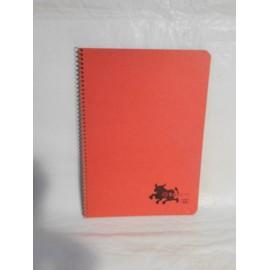 Cuaderno Tauro color rojo una raya. Espiral. Años 70-80.