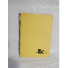 Cuaderno Tauro color amarillo una raya. Espiral. Años 70-80.