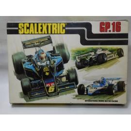 Caja de Scalextric Exin GP 16. Años 80. Completo.