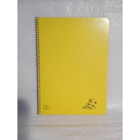 Cuaderno Caballo color amarillo una raya. Espiral. Años 70-80.