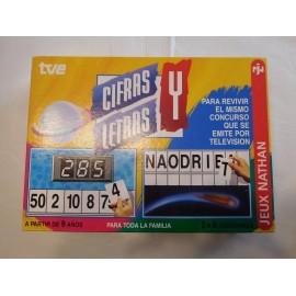 Juego de mesa del concurso de TV. Cifras y Letras. Nathan. 1994