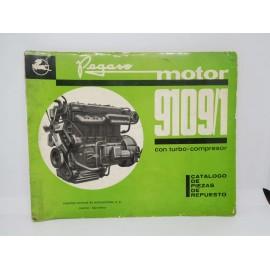 Magnifico catalogo de piezas de repuesto motor Pegaso 9109/1 1ª edición 1969