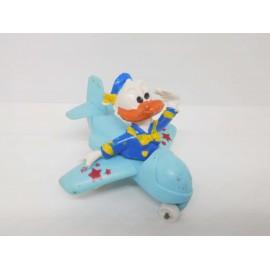 Muñego en goma del pato Donald en avioneta. Años 80. Boatleg.