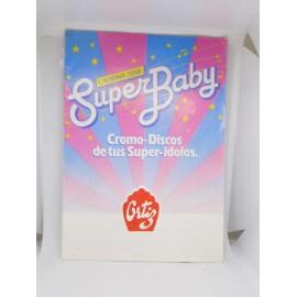 Álbum de cromos premium Super Baby de Ortiz. Cromo discos. Super ídolos. Cadena 100. Años 80.