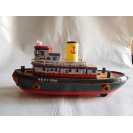 Barco litografiado Neptune Modern Toys.  Japon. Años 50.