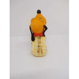 Antiguo muñeco de Pluto de goma con pinza. Años 70.