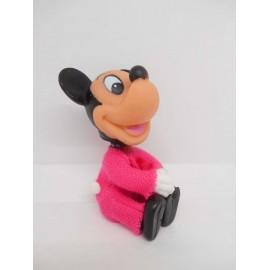 Antiguo muñeco de Mickey de goma con pinza. Años 70.