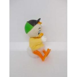 Antiguo muñeco de Sobrino de Donald de goma con pinza. Años 70.