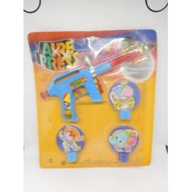 Blister con pistola espacial y dianas de San Gines juguetes años 70