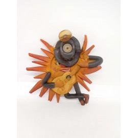 Figura de goma con pito Sol con publicidad de Jerez. Años 60.