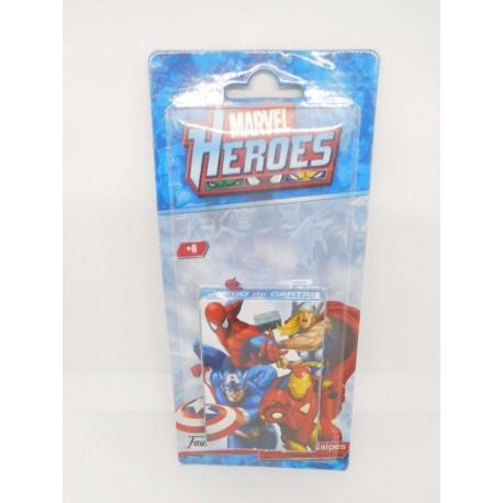 Baraja Marvel Heroes. Fournier. Juego de estrategia.