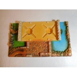 Base de plástico izquierda de Exin castillos serie azul ref 3