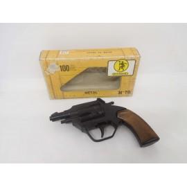 Revolver pistola de juguete Gonher. nº78. Caja marón.