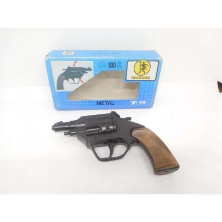 Revolver pistola de juguete Gonher. nº78. Caja azul.