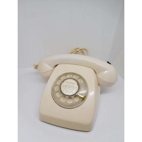 Teléfono antiguo. Modelo Heraldo. Color crema. Años 60. Citesa.