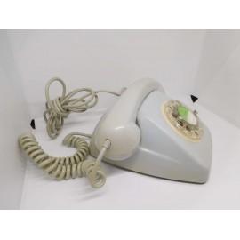 Teléfono antiguo. Modelo Heraldo. Color gris. Años 80. Citesa.