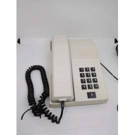 Teléfono antiguo. Modelo Teide. Color blanco. Años 80.