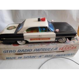 Antiguo coche policía radio patrulla de rico en caja años 60 - Agente Interpol - nº 905 Ford Galaxy