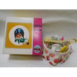 Bonita canastilla canasta para bebe de juguete. Años 70. Nueva. En caja.