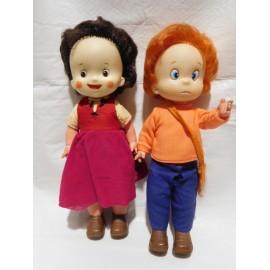 Pareja de muñecos de Famosa de Heidi y Pedro. Años 70.
