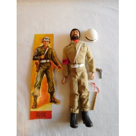 Maniqui Geyperman segunda generacion.  Barbudo rubio. Policia militar.
