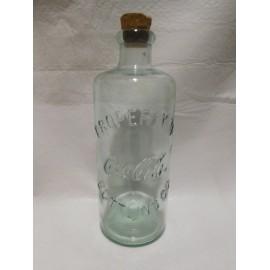 Botella coleccionista de Coca Cola transparente con corcho original