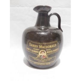 Preciosa jarra de ceramica de Whisky escoces Sandy Macdonald.