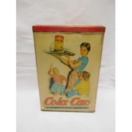 Bonita lata de Cola Cao Colacao de harina en rojo.