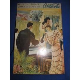 Antiguo cartel de coca cola. Impreso año 1976. Sobre tablero.