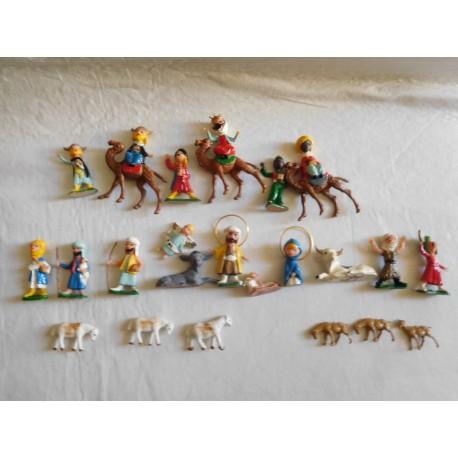 Belen completo figuras Mirete miniatura. Original. Años 70. Nuevo.