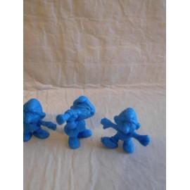 Lote de 7 figuras pitufos Peyo 1983 diferentes premium de algun pastelito Phoskitos