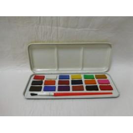 Caja de acuarelas de Mickey fab. England. Años 70-80 18 colores