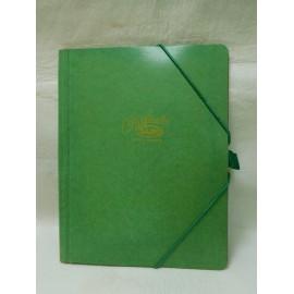 M69 magnifica carpeta clasificadora Saro años 70. Modelo 10 pequeño.. En color verde. Nueva