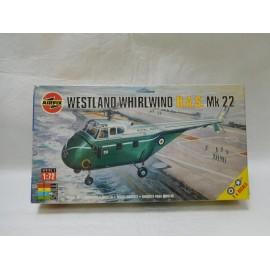 Maqueta antigua de Airfix Westland whirlwind has mk 22.