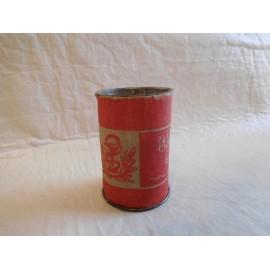 Bote lata de bicarbonato 2 ptas.  Con emblema de farmacia. Años 40-50