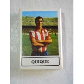 Caja de cerillas con jugador de futbol.  Quique del Atletico de Madrid