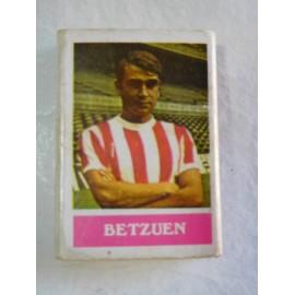 Caja de cerillas con jugador de futbol Betzuen del Atletic de Bilbao