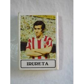 Caja de cerillas con jugador de futbol Irureta del Atletico de Madrid